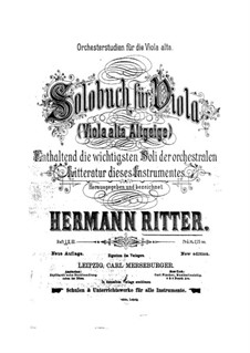 Orchestral Excerpts for Viola: Book I by Hermann Ritter