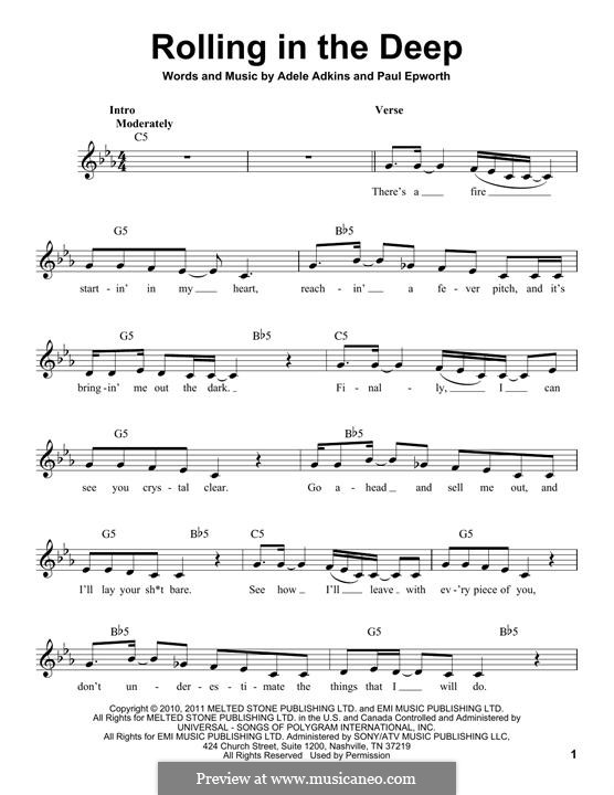 Rolling in the Deep by Adele, P. Epworth - sheet music on ... Rolling In The Deep Chords