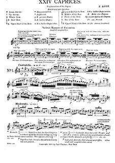 Twenty-Four Caprices for Violin: Caprices No.1-5 by Pierre Rode