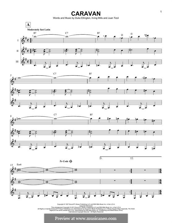 Caravan (Les Paul): For any instrument by Irving Mills, Duke Ellington, Juan Tizol