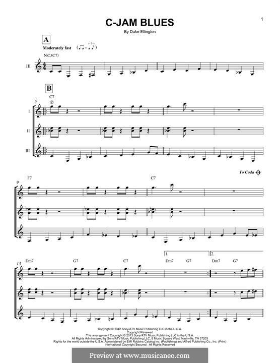 C-Jam Blues: For any instrument by Duke Ellington