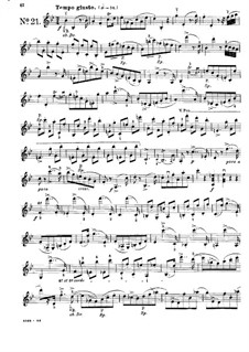Twenty-Four Caprices for Violin: Caprices No.21-24 by Pierre Rode