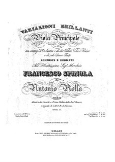 Brilliant Variations for Viola and Orchestra, Op.13: Version for viola and piano by Antonio Rolla