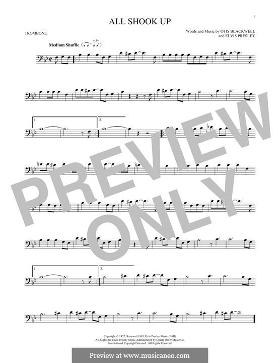 All Shook Up: For trombone by Elvis Presley, Otis Blackwell