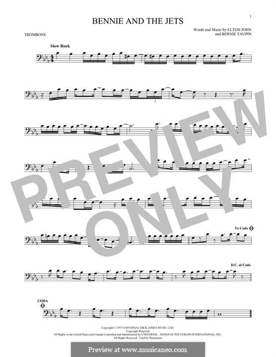 Bennie and the Jets: For trombone by Elton John