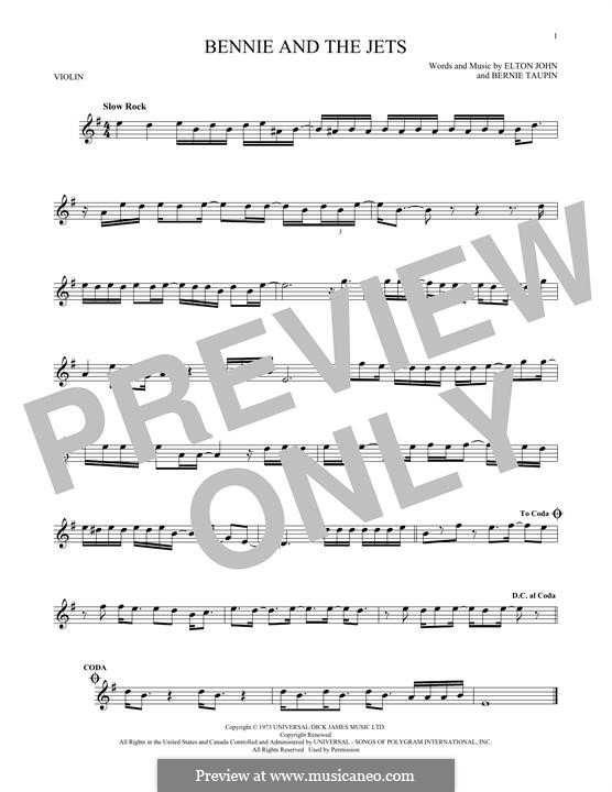 Bennie and the Jets: For violin by Elton John