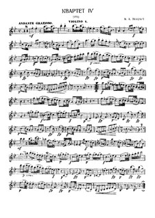 String Quartet No.6 in B Flat Major, K.159: Parts by Wolfgang Amadeus Mozart
