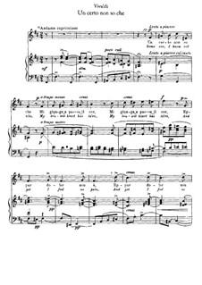 Un certo non so che: Piano-vocal score by Antonio Vivaldi
