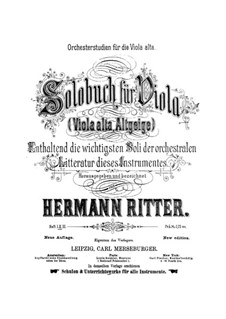 Orchestral Excerpts for Viola: Book II by Hermann Ritter