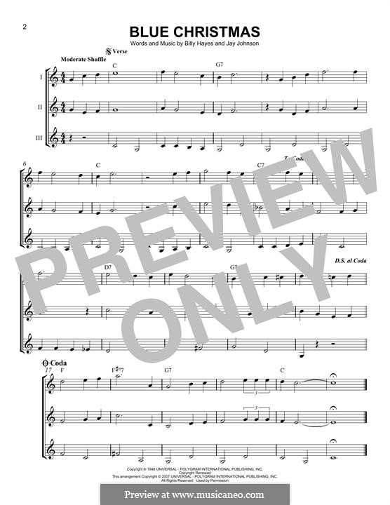 Blue Christmas: For any instrument by Billy Hayes, Jay Johnson