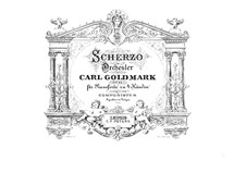 Scherzo in A Minor, Op.45: For piano four hands by Karl Goldmark