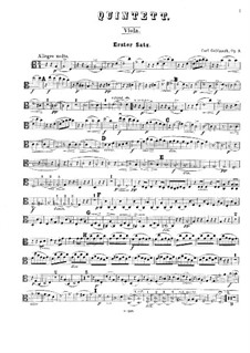 String Quintet in A Minor, Op.9: Viola and cellos parts by Karl Goldmark