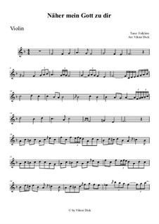 Nearer My God To Thee: For violin by folklore