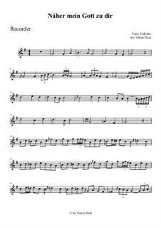 Nearer My God To Thee: For recorder by folklore