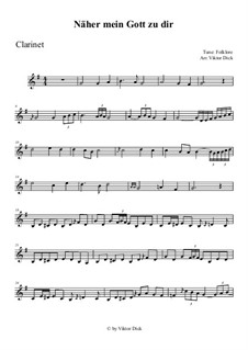 Nearer My God To Thee: For clarinet by folklore