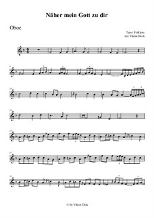 Nearer My God To Thee: For oboe by folklore