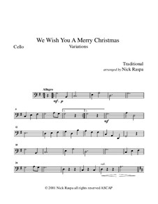 We Wish You a Merry Christmas: For string orchestra – cello part by folklore