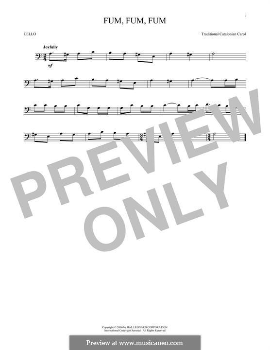 Fum, Fum, Fum: For cello by folklore