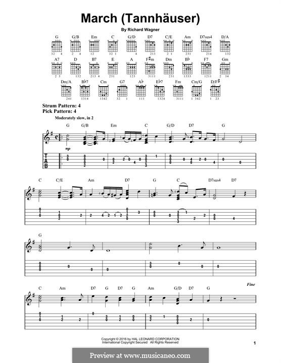 Grand March: For guitar by Richard Wagner