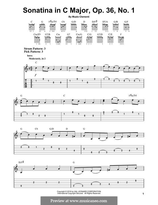 Sonatina No.1: For guitar by Muzio Clementi