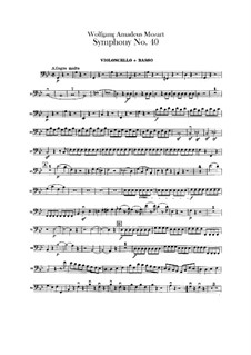 Complete Movements: Cello and double bass part by Wolfgang Amadeus Mozart