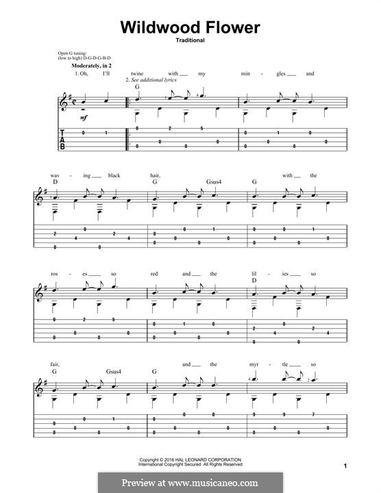 Wildwood Flower: For guitar with tab by folklore