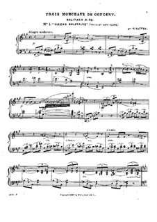 Three Concert Pieces: No.1 Oiseau solitaire by Gustave Satter