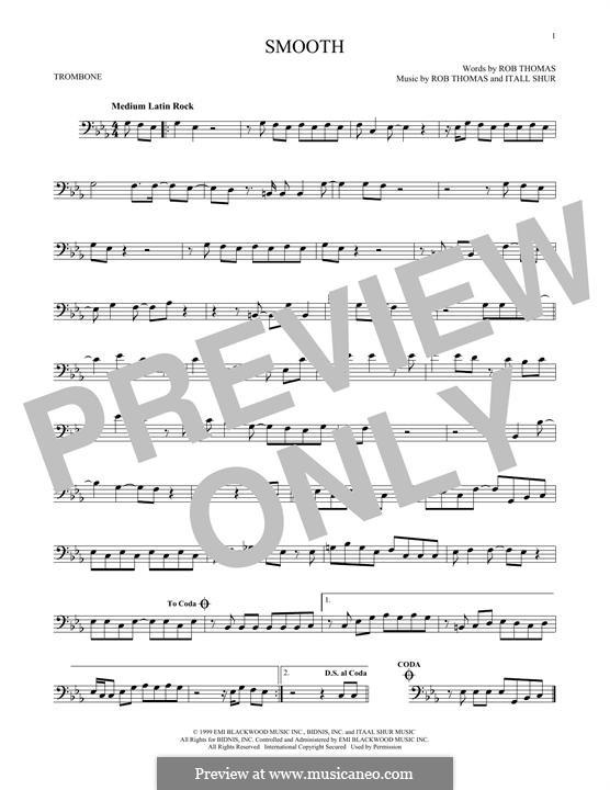 Smooth (Santana featuring Rob Thomas): For trombone by Itaal Shur, Rob Thomas