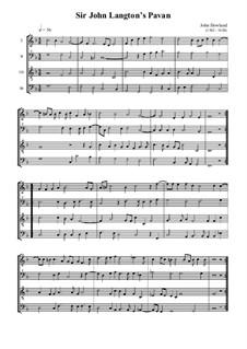 John Langton's Pavane: John Langton's Pavane by John Dowland