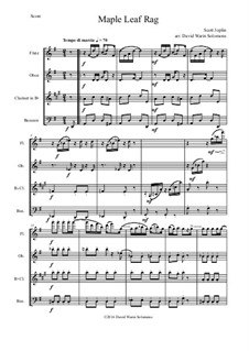 Maple Leaf Rag: For wind quartet by Scott Joplin