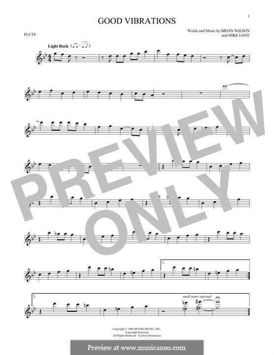 Good Vibrations (The Beach Boys): For flute by Brian Wilson, Mike Love