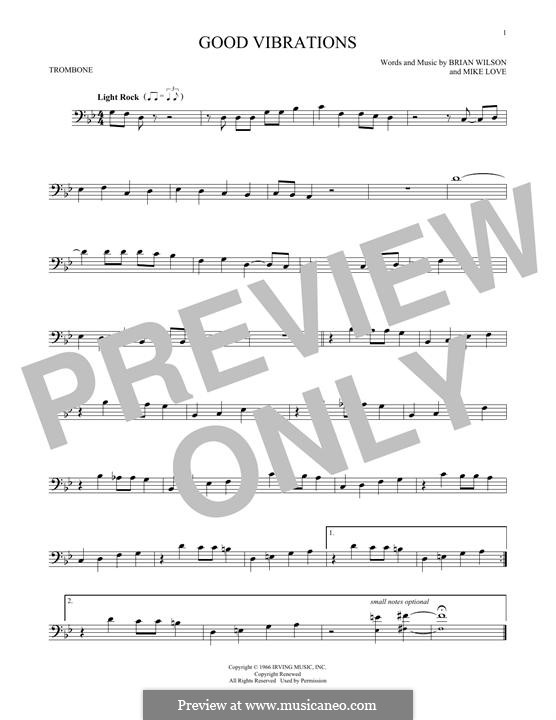Good Vibrations (The Beach Boys): For trombone by Brian Wilson, Mike Love