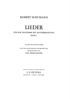 Selected Songs I: Selected Songs I by Robert Schumann