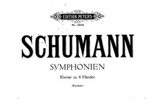 Symphony No.1 in B Flat Major 'Spring', Op.38: Version for piano four hands by Robert Schumann