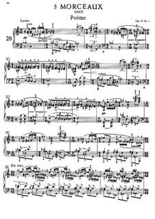 Three Pieces, Op.52: For piano by Alexander Scriabin