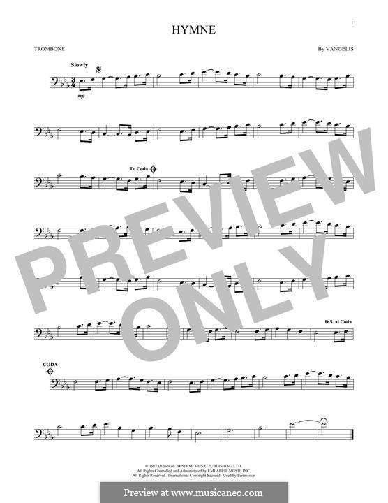 Hymne: For trombone by Vangelis