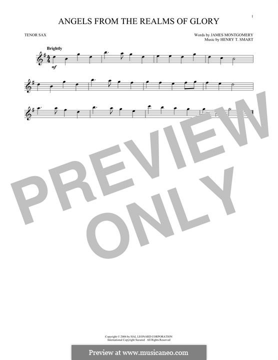 Angels, from the Realms of Glory: For tenor saxophone by Henry Smart