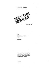 May the Memory: May the Memory by Bonia Shur