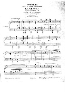 Rogneda: Act I. Arrangement for soloists, choir and piano by Alexander Serov