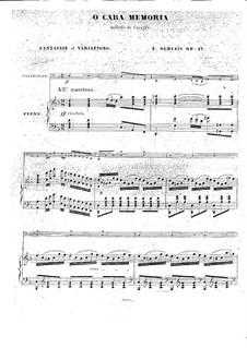 O cara memoria for Cello and Piano, Op.17: Score by Adrien-François Servais