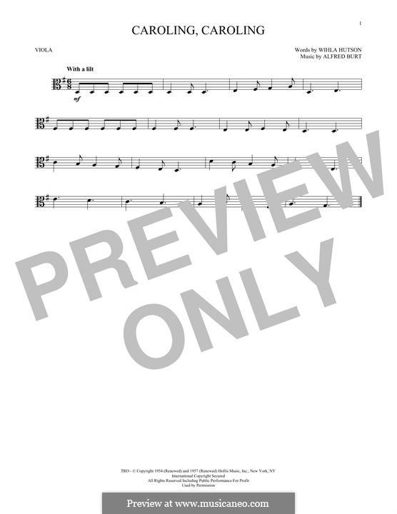 Caroling, Caroling (Nat King Cole): For viola by Alfred Burt