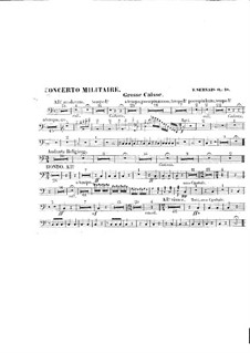 Concerto militaire for Cello and Orchestra, Op.18: Percussion parts by Adrien-François Servais