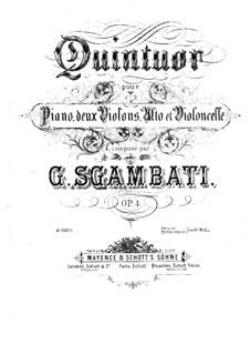 Piano Quintet No.1 in F Minor, Op.4: Movements I, II by Giovanni Sgambati