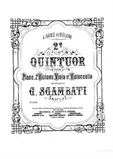 Piano Quintet No.2 in B Flat Major, Op.5: Full score by Giovanni Sgambati