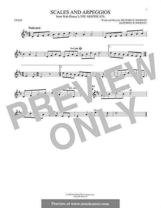 Scales and Arpeggios: For violin by Richard M. Sherman, Robert B. Sherman