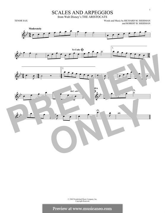 Scales and Arpeggios: For tenor saxophone by Richard M. Sherman, Robert B. Sherman