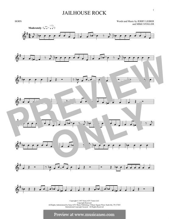 Jailhouse Rock (Elvis Presley): For horn by Jerry Leiber, Mike Stoller