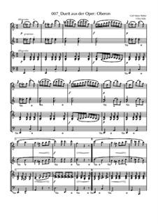 Duett: For piano four hands by Carl Maria von Weber