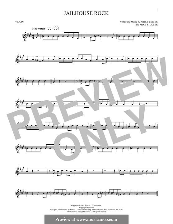 Jailhouse Rock (Elvis Presley): For violin by Jerry Leiber, Mike Stoller