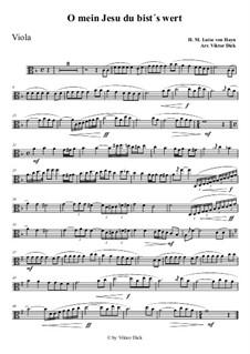 O mein Jesu du bist's wert: For viola by Henriette Maria Luise von Hayn